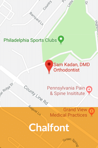 Chalfont Map Kadan Orthodontics in Doylestown, Chalfont, Harleysville PA