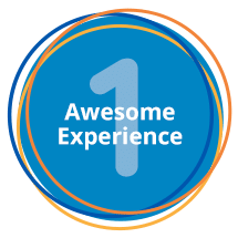 1 awesome experience button hover